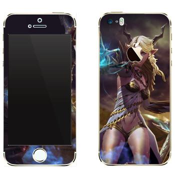Виниловая наклейка «Tera girl» на телефон Apple iPhone 5