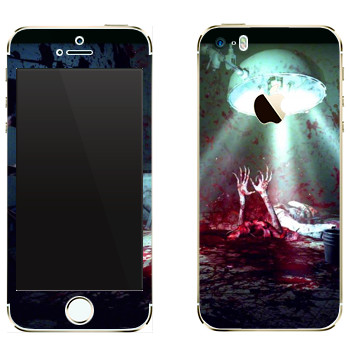 Виниловая наклейка «The Evil Within  - Кровавое месиво» на телефон Apple iPhone 5