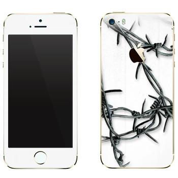 Виниловая наклейка «The Evil Within - Колючая проволока» на телефон Apple iPhone 5