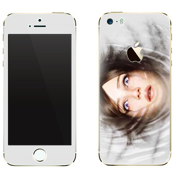 Виниловая наклейка «The Evil Within - Лицо в воде» на телефон Apple iPhone 5