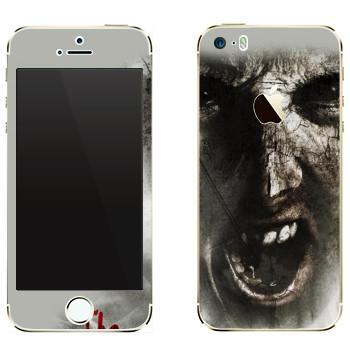 Виниловая наклейка «The Evil Within - Лицо зомби» на телефон Apple iPhone 5