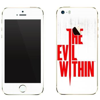Виниловая наклейка «The Evil Within - Логотип» на телефон Apple iPhone 5