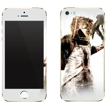 Виниловая наклейка «The Evil Within - Монстр с сейфом на голове» на телефон Apple iPhone 5