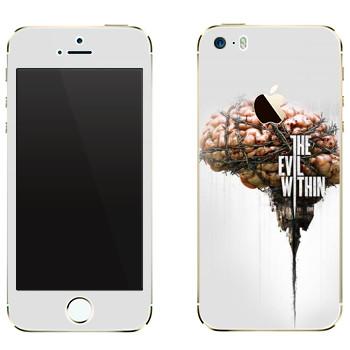 Виниловая наклейка «The Evil Within - Мозг» на телефон Apple iPhone 5
