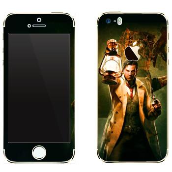 Виниловая наклейка «The Evil Within - Мужик с лампой» на телефон Apple iPhone 5
