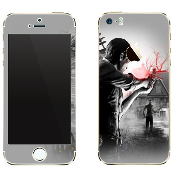 Виниловая наклейка «The Evil Within - Стрельба» на телефон Apple iPhone 5