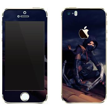 Виниловая наклейка «Thief - Девушка» на телефон Apple iPhone 5