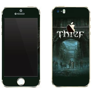 Виниловая наклейка «Thief - Город» на телефон Apple iPhone 5