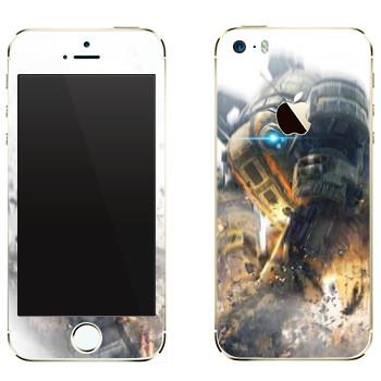 Виниловая наклейка «Titanfall бой роботов» на телефон Apple iPhone 5
