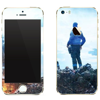 Виниловая наклейка «Titanfall гора трупов» на телефон Apple iPhone 5
