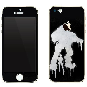 Виниловая наклейка «Titanfall граффити» на телефон Apple iPhone 5