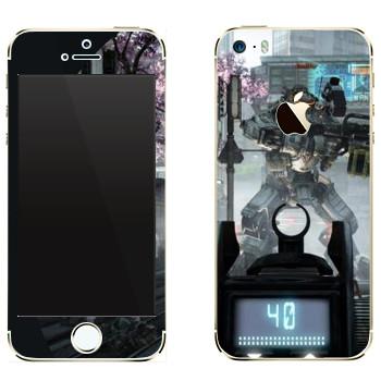 Виниловая наклейка «Titanfall робот на прицеле» на телефон Apple iPhone 5