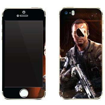 Виниловая наклейка «Titanfall солдаты» на телефон Apple iPhone 5
