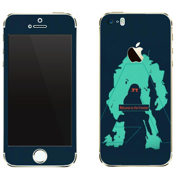 Виниловая наклейка «Titanfall тень» на телефон Apple iPhone 5