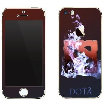 Виниловая наклейка «We love Dota 2» на телефон Apple iPhone 5