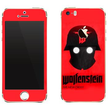 Виниловая наклейка «Wolfenstein - Шлем» на телефон Apple iPhone 5