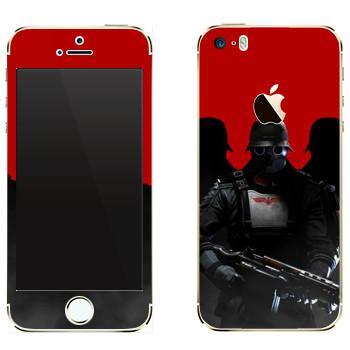 Виниловая наклейка «Wolfenstein - Солдаты» на телефон Apple iPhone 5