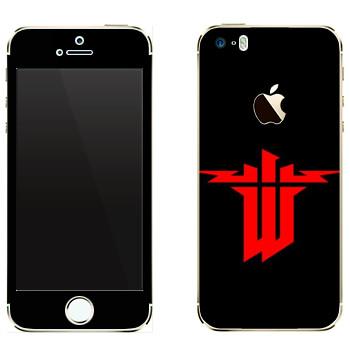 Виниловая наклейка «Wolfenstein» на телефон Apple iPhone 5