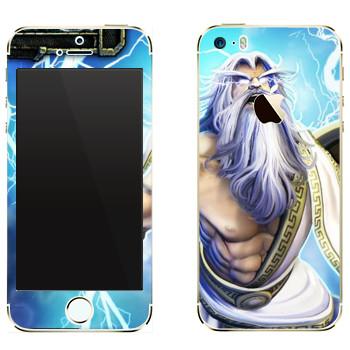 Виниловая наклейка «Zeus : Smite Gods» на телефон Apple iPhone 5