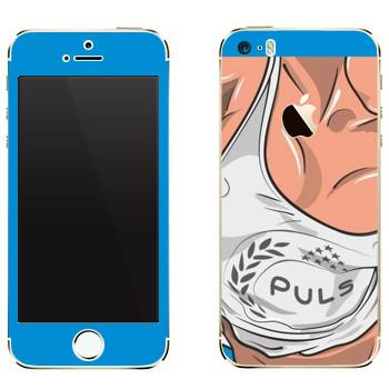Виниловая наклейка «Маечка Puls» на телефон Apple iPhone 5