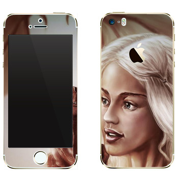 Виниловая наклейка «Daenerys Targaryen - Game of Thrones» на телефон Apple iPhone 5S