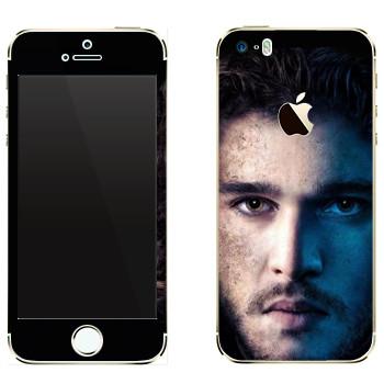 Виниловая наклейка «Джон Сноу» на телефон Apple iPhone 5S