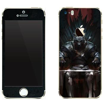 Виниловая наклейка «Игра престолов Железный Трон» на телефон Apple iPhone 5S