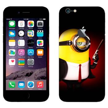 Виниловая наклейка «Миньон Джеймс Бонд» на телефон Apple iPhone 6 Plus/6S Plus