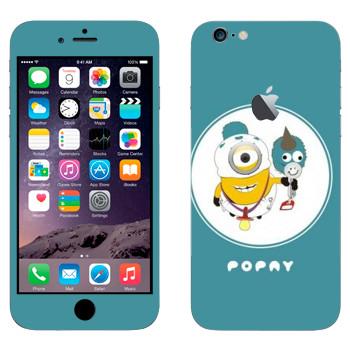 Виниловая наклейка «Миньон младенец» на телефон Apple iPhone 6 Plus/6S Plus