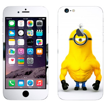 Виниловая наклейка «Миньон силач» на телефон Apple iPhone 6 Plus/6S Plus