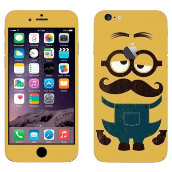 Виниловая наклейка «Усатый Миньон» на телефон Apple iPhone 6 Plus/6S Plus