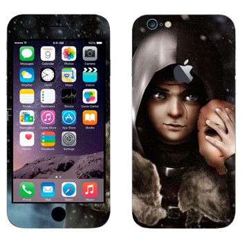 Виниловая наклейка «Бран Старк» на телефон Apple iPhone 6 Plus/6S Plus
