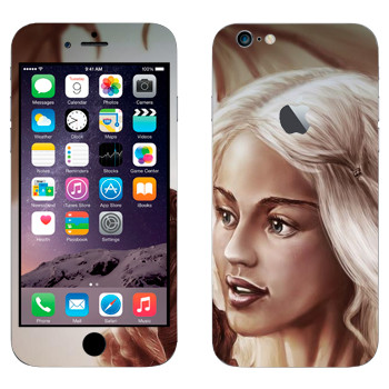 Виниловая наклейка «Daenerys Targaryen - Game of Thrones» на телефон Apple iPhone 6 Plus/6S Plus
