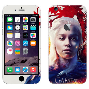 Виниловая наклейка «Дейнерис - Game of Thrones Fire and Blood» на телефон Apple iPhone 6 Plus/6S Plus