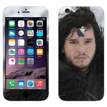 Виниловая наклейка «Джон Сноу в Ночном дозоре» на телефон Apple iPhone 6 Plus/6S Plus