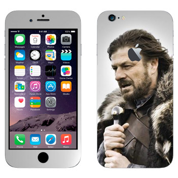Виниловая наклейка «Эддард Старк» на телефон Apple iPhone 6 Plus/6S Plus