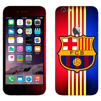 Виниловая наклейка «Barcelona stripes» на телефон Apple iPhone 6 Plus/6S Plus