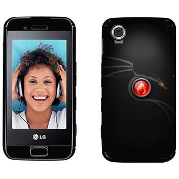 Виниловая наклейка «Дракон стильно» на телефон LG GT400 Viewty Smile