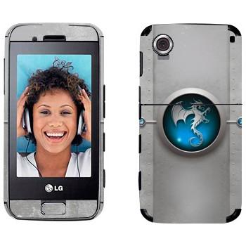 Виниловая наклейка «Дракон-техно» на телефон LG GT400 Viewty Smile