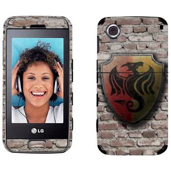 Виниловая наклейка «Герб в виде дракона на щите» на телефон LG GT400 Viewty Smile