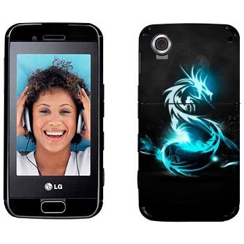 Виниловая наклейка «Голубой дракон» на телефон LG GT400 Viewty Smile