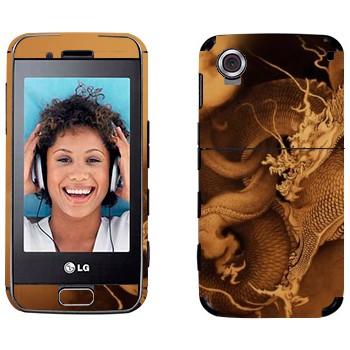 Виниловая наклейка «Китайский дракон» на телефон LG GT400 Viewty Smile