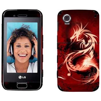 Виниловая наклейка «Красный дракон» на телефон LG GT400 Viewty Smile