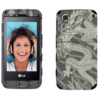 Виниловая наклейка «Восточный дракон» на телефон LG GT400 Viewty Smile
