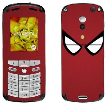 Виниловая наклейка «Человек-паук глаза» на телефон Motorola E1, E398 Rokr