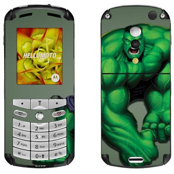 Виниловая наклейка «Халк» на телефон Motorola E1, E398 Rokr