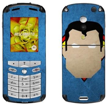 Виниловая наклейка «Супермен рисованный» на телефон Motorola E1, E398 Rokr