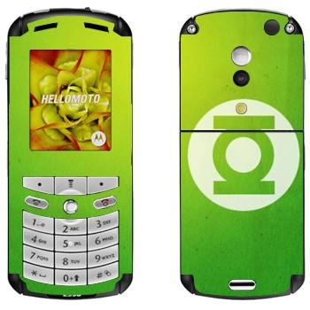 Виниловая наклейка «Зеленый фонарь - эмблема» на телефон Motorola E1, E398 Rokr