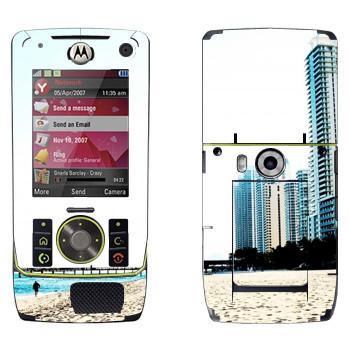 Виниловая наклейка «Белоснежный пляж Майами» на телефон Motorola Z8 Rizr