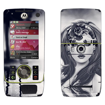 Виниловая наклейка «Девушка в воде» на телефон Motorola Z8 Rizr